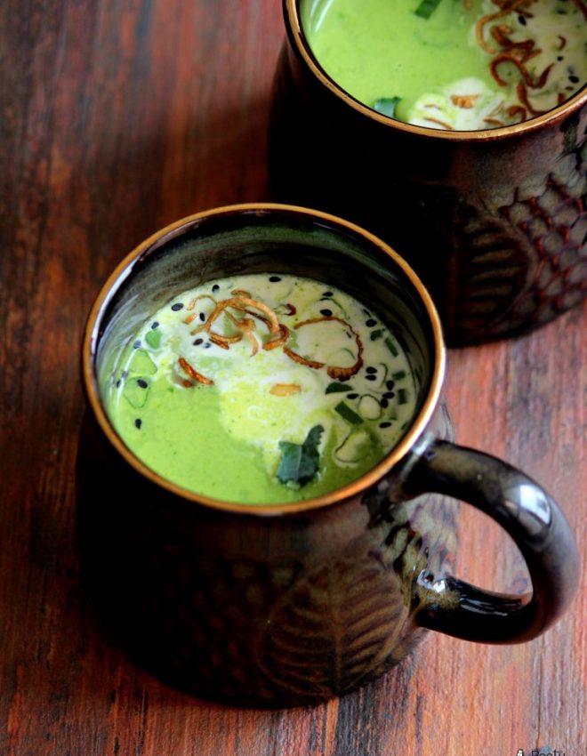 Broccoli Cilantro and Shallot Soup
