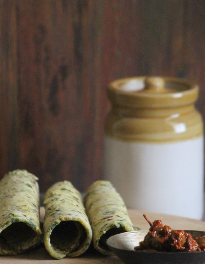 Fenugreek and Dill Leaves Parathas