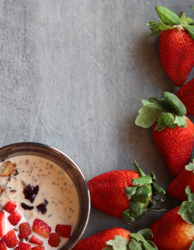 Quinoa Pudding with Strawberries