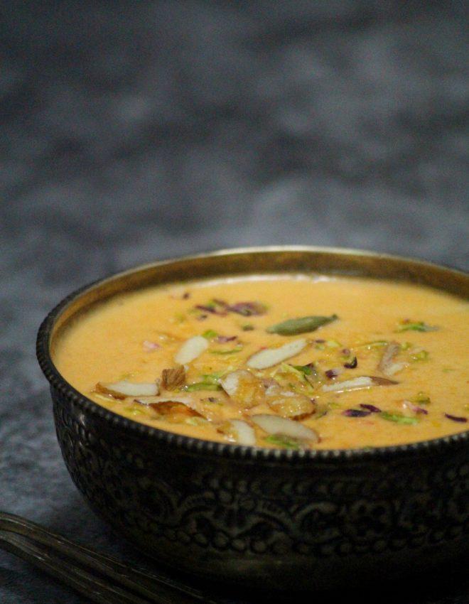 Narangi Phirni (Orange Phirni)