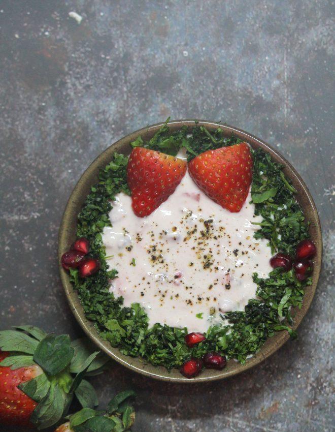 Strawberry and Pomegranate Raita