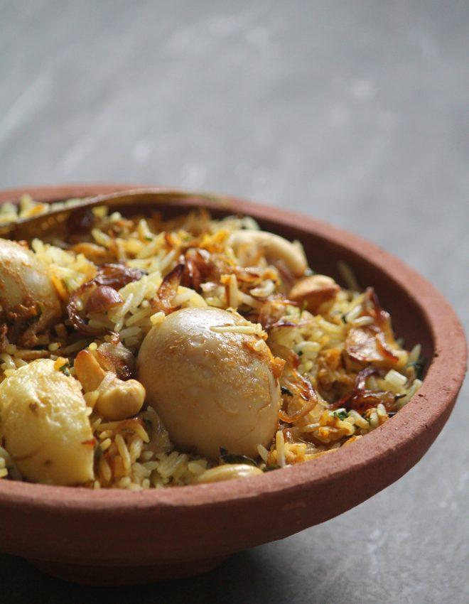 Egg Biryani (Ande Ki Biryani)