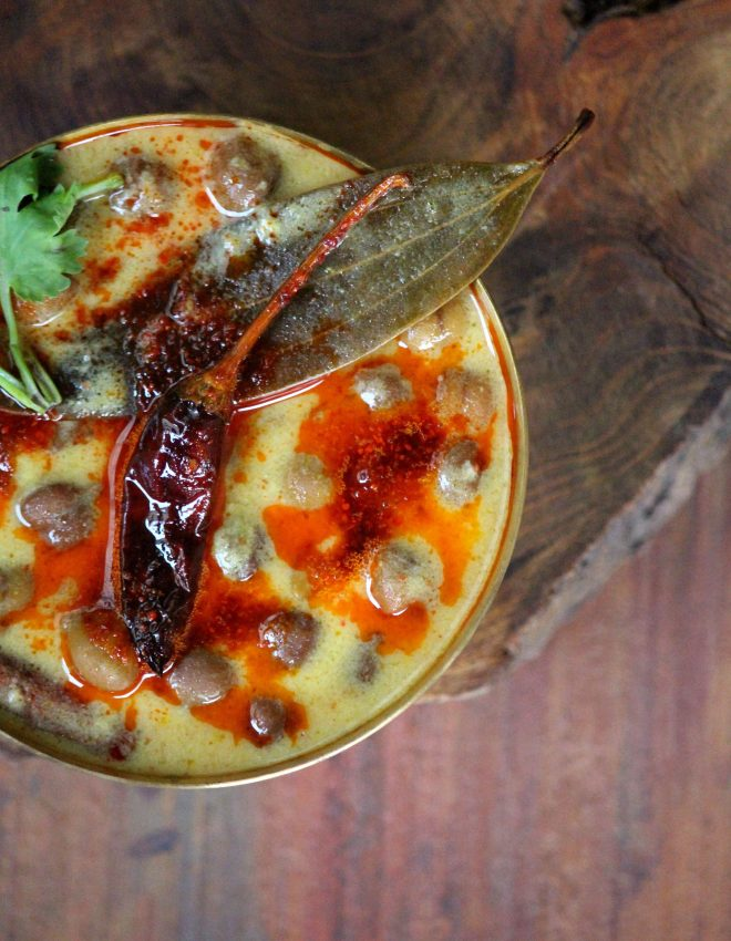 Chane Jaisalmer Ke (Black Chickpeas in Spiced and Aromatic Yogurt Curry)