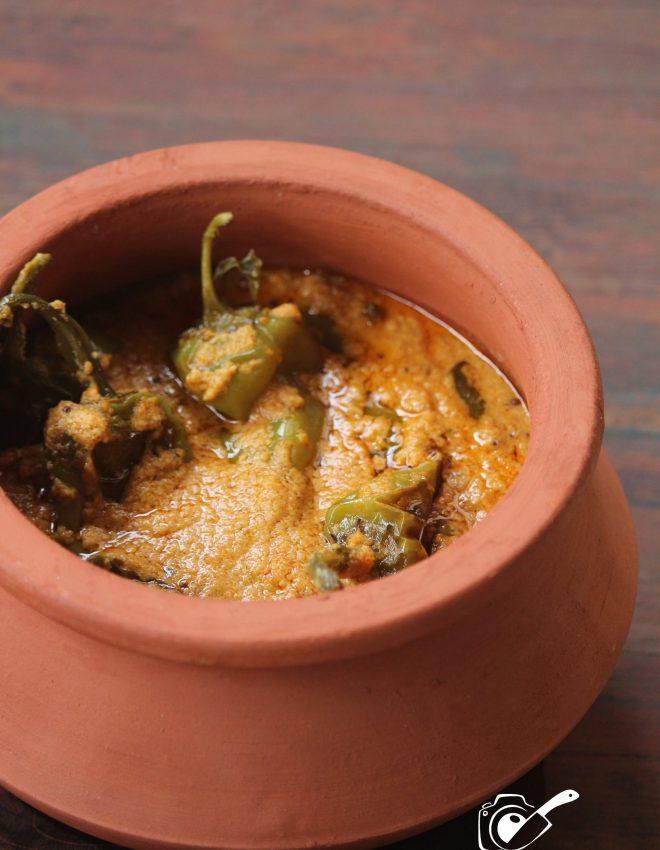 Hyderabadi Mirchi Ka Salan (Curried Chilli Peppers)